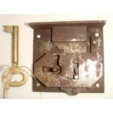 Fechadura Antiga De Ferro E Metal Amarelo P/ Armários (8)