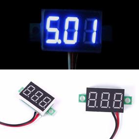 Voltimetro Digital Mini Azul Com Remote Marcador De Bateria