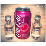 2 Absolut (miniatura) + 1 Latita Coca Cola Cherry
