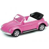 Volkswagen Fusca Beetle Welly Rosa Conversível 52062 Lacrado