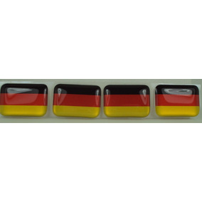 Kit Bandeira Alemanha Tarjeta Adesivo Placa 2,3 X 1,6cm