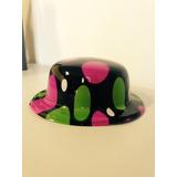 Chapéu De Plástico Tipo Malandro Colorido Fantasia
