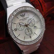 Relógio Emporio Armani Ar1456 Cerâmica Branca Oferta!!
