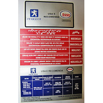 Peugeot Adesivo Óleo Radiador Motor 105 106 206 207 306 307
