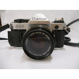 Camara Reflex Canon Ae-1 Program Lente 50mm 1:1.8 Favor Leer