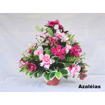Arranjo Floral - Flores Artificiais De Seda -vários Arranjos