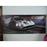 Poster Martini Porsche917 Circuit De La Sarthe 1971