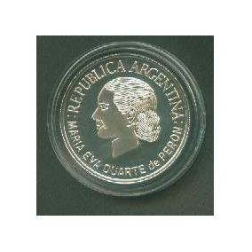 Moneda Plata 1 Peso 50�� Fallecimiento Eva Peron Año 2002