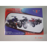 Manual Quadriciclo Mvk Sport X-cape Jurasic Big Force Moto