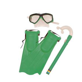Kit Mergulho Máscara Nadadeira E Snorkel - Belfix