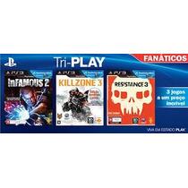 Jogos Tri-play Fanáticos 3 Jogos Em Um Kit Playstation 3