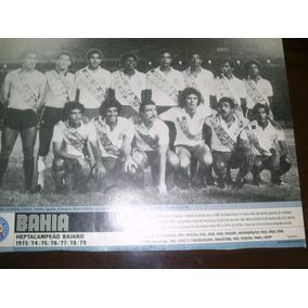 Poster Bahia Hepta Campeão Baiano 1979 21 X 27 Cm