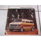 Brochura De Venda Furgões Plymouth Voyager 1981