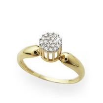 Anel Namorada Diamantes E Ouro Amarelo 18 Quilates!!