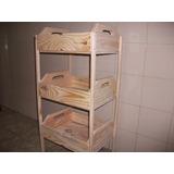 Fruteira De Caixotes -1001 Utilidades.(madeira)com Rodizios
