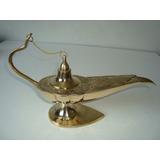 Lâmpada Óleo Aladim Em Metal Dourado 18cm Símbolo Enfermagem