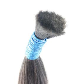 Cabelo Humano Natural Indiano 60-65 Cm 100 Gramas Mega Hair