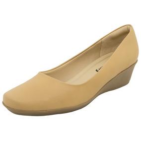Sapato Feminino Anabela Bege Piccadilly - 143027