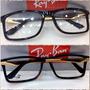 Rb7023 Esportiva Óculos Armação Masculina Marrom C/ Dourado
