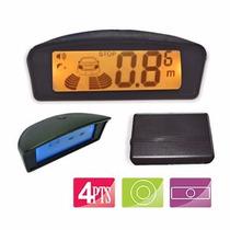Sensor De Estacionamento Orbe 4 Pontos Preto Com Display Lcd