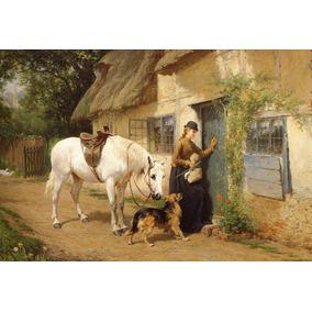 A Visita Mulher Cavalo Cachorro Pintor Holmes Na Tela Repro
