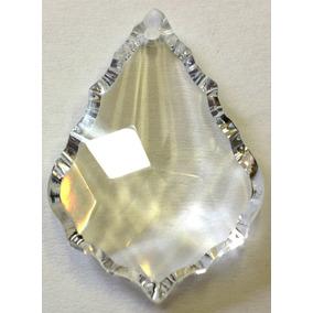 Piedra Cristal Cortado Hoja 2.5 Cm Para Candil O Cortina