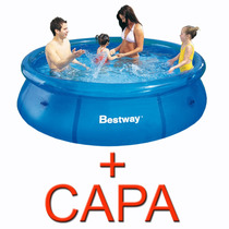 Piscina Inflável 2.300 Litros + Capa Bestway Intex - Oferta