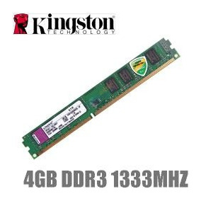 Memória Kingston Ddr3 4gb 1333mhz P/ Desktop Pc ##sp Retira