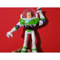 Novo Buzz Toy Story 26cm Fala Som Luz Led Disney Articulado