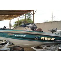 Lancha Bass Boat 17 Pes Com Motor Johnson 90 Hp Ano 1999