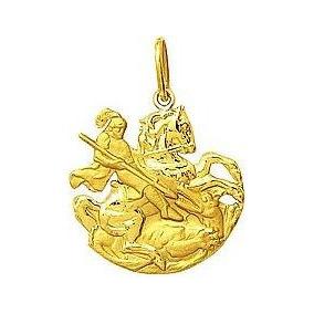 Pingente São Jorge Recortado Ouro 18k 750 Ref 014
