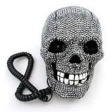 Telefone Decorativo Caveira Strass Skull Pronta Entrega