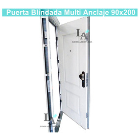 Puerta De Seguridad Blindada Ignífuga Multi Anclaje Exterior