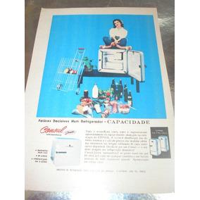 L - 290/ Pngk30 Propaganda Antiga Geladeira Consul Jr 60