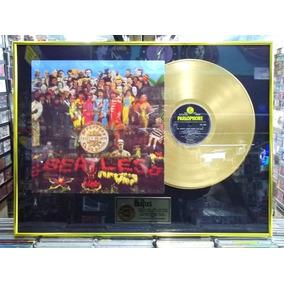 The Beatles Sgt Peppers Lindo Quadro Disco Ouro Pintura Dour
