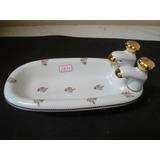 #5830# Saboneteira/banheira De Porcelana Dd, Flores!!!