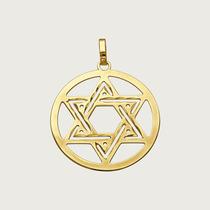 Pingente Estrela De Davi Em Ouro 18k (750)