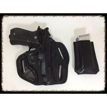 Funda De Piel Para Pistola Beretta 84fs, Browning Bda, Glock