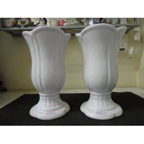 #6836# Par Vasos Tulipa Porcelana Branco, Pequeno!!!