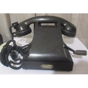 Telefono Bakelita Ericsson A Magneto- Antiguo