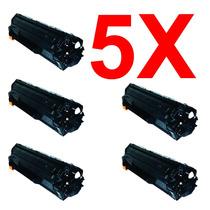Kit 5 Peças Toner Compatível Hp Ce285a Ce285 285a 285 85a
