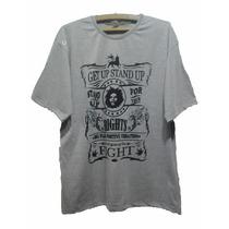 Camisa Camiseta Bob Marley Get Up Nas Cores Do Reggae