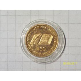 Argentina 50 Pesos Moneda De Oro 1994 8 Gr En Capsula