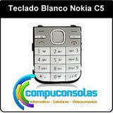 Teclado Blanco Nokia C5