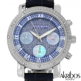7923cb8cc8f Akribos Xxiv Stainless Steel Diamond Watch - S W I S S.
