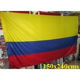 Bandera De Colombia (tamaño 150x240cm) Doble Faz Polyester