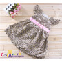 Vestido De Festa Infantil Onçinha Com Tiara - Pronta Entrega