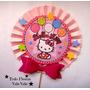 Hello Kitty Abanicos 9 P (22 Ctms) Centro Mesa Globos