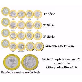 Coleção Completa Com 16 Moedas Olímpicas+moeda Da Bandeira