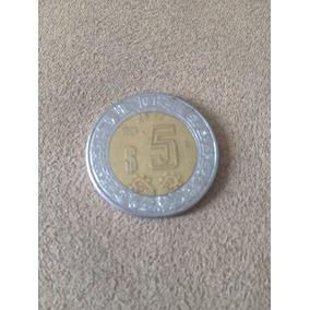 Moeda N$ 5 Pesos Dos Estados Unidos Mexicanos 1990